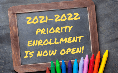 Priority Enrollment is Now Open!